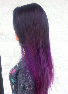 Purple Ombre hair.
