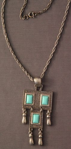 Turquoise & Silver NecklaceVintage Sarah Coventry by Tannettes, $20.00