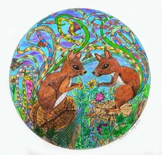 """well I always wondered what one squirrel said the other! perhaps they are telling stories about each others tails, and judging by these two tails they have a lot to talk about . The title is """" A tale about Tails"""" Telling Stories, Squirrel, Evans, My Arts, Creatures, Drawings, Artwork, Squirrels, Work Of Art"""
