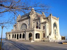 casino in Constanta, Romania Monuments, Art Nouveau Architecture, Classic Architecture, Casino Night Party, Casino Theme, Abandoned Places, Backdrops, Around The Worlds, Exterior