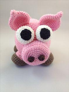 Free Crochet Pattern from Jo's Crocheteria www.joscrocheteria.com - Sven the amigurumi pig