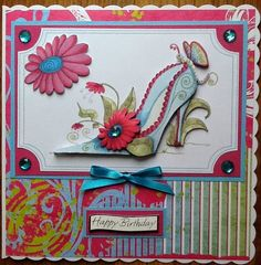 Katy Sue Designs card - Fabulous Shoes by SoSpecial Cards