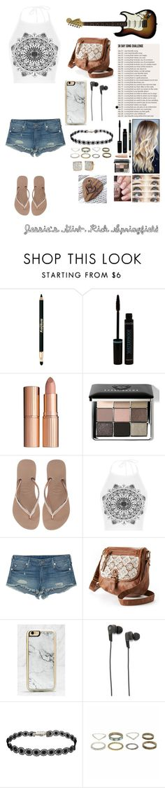 """(LATE) Jessie's Girl- Rick Springfield"" by my-not-so-healthy-obsession ❤ liked on Polyvore featuring Brinley Co, Sisley, Charlotte Tilbury, Bobbi Brown Cosmetics, Havaianas, WearAll, True Religion, Mudd, Zero Gravity and B&O Play"