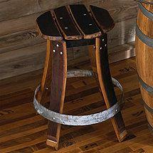 Stools From Wine Barrels | Vintage Oak Wine Barrel Stools & Bar Stools