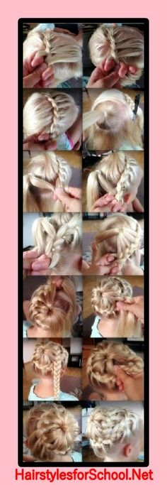 Hairstyle for a girl step by step  #hairstyle