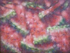 WATERMELON FLAVOUR. 2016 oil on canvas, imprimatura. 60x80cm http://www.ivankrutoyarov.com/2014/05/kupit-kartinu.html
