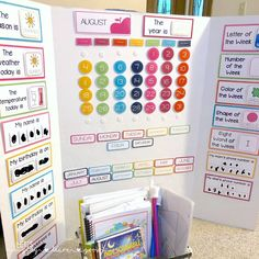 Calendar Board Display Calendar Board Display,Let's Play. Toddler Learning Activities, Homeschool Kindergarten, Kids Learning, Online Homeschooling, Learning Stations, Learning Spaces, Calendar Board, Kids Calendar, Calendar Time