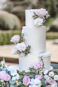 Under The Floral Spell Wedding Décor Inspiration at Wotton House, Surrey Simple Weddings, Real Weddings, Tall Gold Vases, Wotton House, Three Tier Cake, Wax Flowers, Wedding Inspiration, Wedding Ideas, Tiered Cakes
