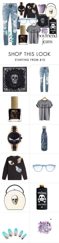 """Comfy Boyfriend Jeans"" by danaemgraham ❤ liked on Polyvore featuring Alexander McQueen, Dolce&Gabbana, ncLA, Fendi, S'well, Mykita, Bertoni, The Gypsy Shrine, Gucci and boyfriendjeans"