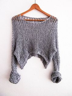 Simple Cropped Cotton Sweater Cropped Shrug by armarioenruinas