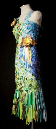 Paper Magazine dress by artist Carrie Schumacher.