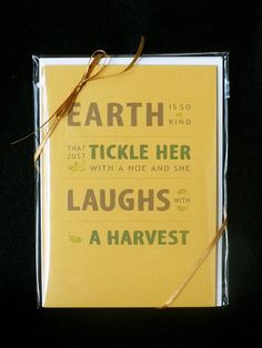 Garden Quotes Note Cards assortment of 4 by aGardenersArtWorks, $11.50