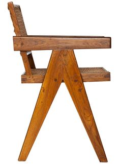 View this item and discover similar for sale at - Teak and cane desk armchair by Pierre Jeanneret from Chandigarh, India. Pierre Jeanneret, Cool Furniture, Furniture Design, Love Chair, Interior Concept, Piece A Vivre, Modern Chairs, Le Corbusier, Decoration