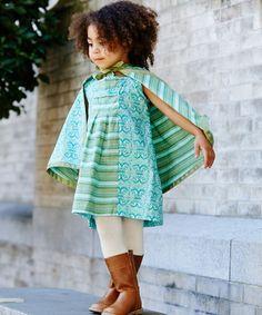 Look what I found on #zulily! Kenya Arabesque Pleated Tab Jumper - Infant, Toddler & Girls #zulilyfinds