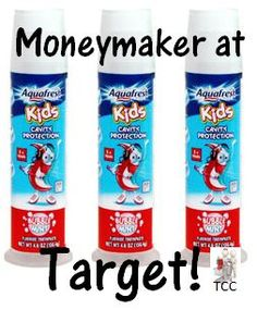 Hot Target Deal thru 5/31! Moneymaker on kid's toothpaste after coupon and gift card deal!   Click the link below to get all of the details  ► http://www.thecouponingcouple.com/toothpaste-moneymaker-on-aquafresh-kids-at-target-thru-53114/