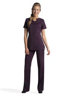 Spa uniform tunics and florence on pinterest for Spa uniform canada