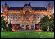 Gresham Palace near the Danube River Budapest Hungary