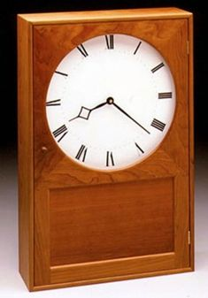 Shaker Wall Clock design by Brother Isaac N. Youngs of New Lebanon, New York