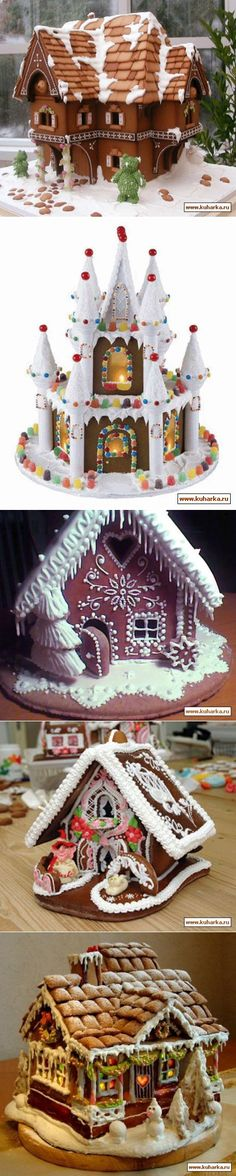 Gingerbread lodges. Photo.