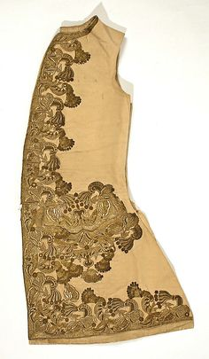 Waistcoat 18th century, probably Italian, silk with gold embroidery. Oh I would love to see a detailed picture of this....
