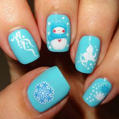 Wendy's Delights: Christmas Water Decals from Nail Art UK @realnailartuk #waterdecals #christmasnails #winternails #snowman #snowflakes