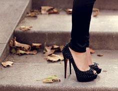 Louboutin + Black Spikes