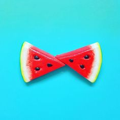 Tag someone who would like this Watermelon Bow Tie Pin So easy to wear using the pin on its back. You can wear it as a bow tie- brooch hair or belt accessory. This is a unisex statement accessory that is going to make your outfit fabulous. Custom Bow Ties, Red Bow Tie, Tie Pin, Flat Color, Color Photography, Bows, Make It Yourself, Flat Lay