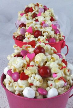 Candied Popcorn - Valentines Day Desserts That Make The Most Perfect Little Gifts - Photos