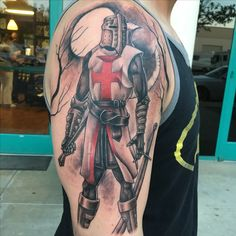 CRUSADER!!!black and gray tattoo, Junior Garcia tattoo, Palmdale ca, Lancaster ca