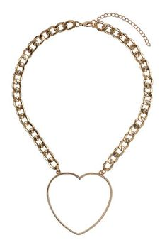 TOPSHOP HEART CHAIN NECKLACE