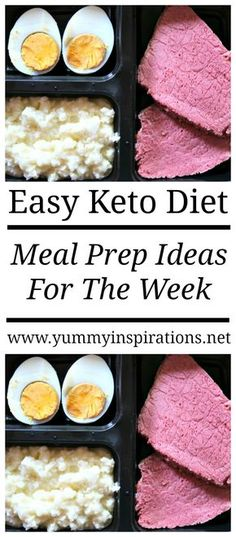 Keto Meal Prep Ideas For The Week - Easy Sunday Low Carb Meal Prep Recipes for Ketosis Weight Loss and Healthy Meals
