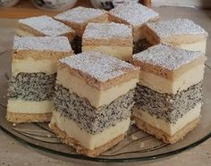 French poppyseed cream since I tried this recipe, it has become a family favorite! - Great Tips Hungarian Recipes, Cheesecake, Food And Drink, Dessert Recipes, Fudge, Sweets, Healthy Recipes, Cookies, Baking