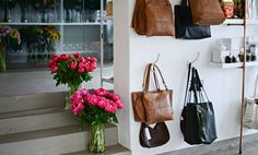 Peonies & leather handbags, best day ever