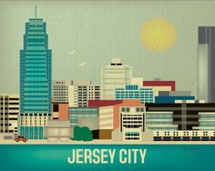 This may have to find its way into my apartment with several others from her collection. Jersey City New Jersey  Wall Art Gift for Home by loosepetals, $26.00