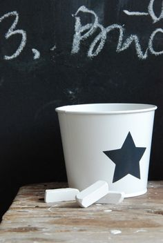 like this pail motif for a chalkboard wall