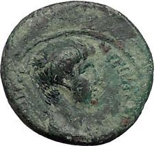 NERO as Caesar 55AD Thyateira in Lydia Labrys Axe Rare Ancient Roman Coin i56071