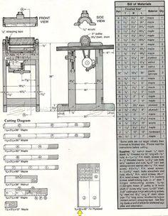 #554 Drum Sander Plans - Sanding Wood