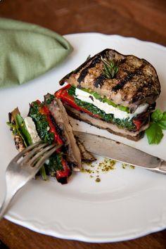 Eggplant Mozzarella Stacks .                                                                                                                                                     More
