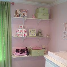 Like the white shelves for decor