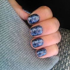 Mermaid nails  Moyra suede effect 503