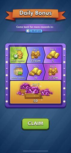 Daily Rewards, Game Gui, Game Ui Design, Game Assets, Mobile App Design, Casino Games, Mobile Game, Deviantart, Games
