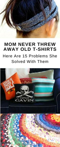 Stop tossing your old t-shirts. These great DIY t-shirt projects, no sew ideas, and crafts are fun and useful for anyone! You can upcycle your t-shirt in so many different ways. We hope these tutorials are helpful and more creative than just turning a tshirt into a tank!  #upcycling #upcycle #crafts #diy #projects #tshirt #tshirtquilt