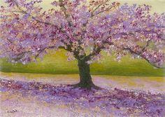 """Lavender Day"" (2014), David Najar http://www.parkwestgallery.com/artwork-detail/?ArtID=376336 #rosequartz #serenity #PANTONE"