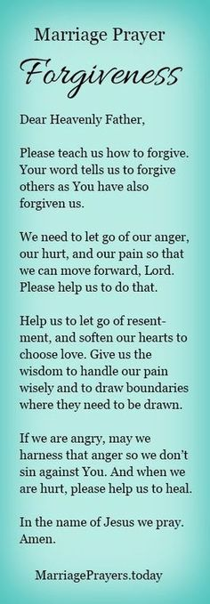 A marriage prayer to help us forgive.
