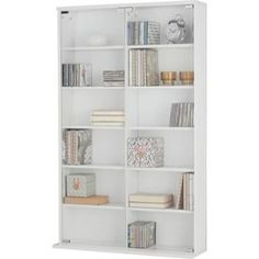 Buy Media Storage Unit With Glass Door   White At Argos.co.uk,