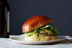 Herbed Chicken Burgers with Spicy Aioli, a recipe on Food52