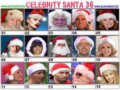 Celeb Santa Christmas Picture Quiz, Christmas Quiz, Body Shop At Home, The Body Shop, Gavin Henson, Aston Kutcher, Jason Manford, Noel Edmonds, Christine Bleakley