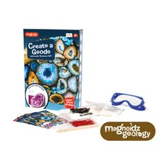 Learn about geology and grow your own crystals! Ages Contents: ~Plastic measuring beaker ~Muddler bags of Potassium Aluminium ~Safety Goggles ~Food colouring powder ~Bag of Plaster ~Instructions Booklet Food Coloring, Colouring, Grow Your Own Crystals, Plaster, Own Home, Geology, Contents, Booklet, Safety