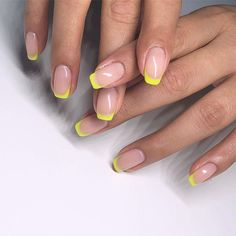 19 neon nail designs that shine brighter than your future 19 neon nail . - 19 neon nail designs that shine brighter than your future 19 neon nail designs that shine - Cute Acrylic Nails, Neon Nails, Cute Nails, Pretty Nails, My Nails, Pink Tip Nails, Neon Nail Art, Glitter Nails, Ongles Or Rose