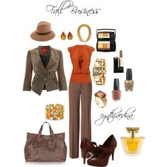 Fabulous fall outfit. Feminine and classic. Love!